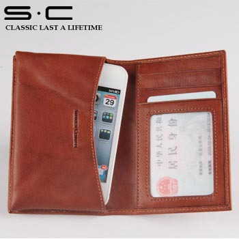 new arrival Italian style cover for Iphone 5s 5 leather case brown color with plastic holder mobile phone case for Ebay saler