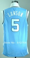 Free Shipping,#5 Ty Lawson College Bakstball Jersey,Embroidery logo,Size 44-56,Can Mix Order
