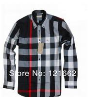 Free Shipping 2014 High Quality Luxury Dress Shirts Cotton Men Designer Casual Shirt Long Sleeve Slim Fit Shirts Size S-4XL