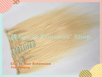 15''/18''/20''/22''/24'' Wholesale Price Silky Straight Virgin Brazilian Hair Clips In Hair Extension