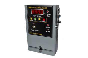 HOT SELLING Coin-operated Breath Alcohol Tester AT309 Breath sampling time about 5 seconds continuous breath 2pcs