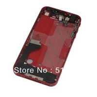 Red Metallic Full Parts Midframe Midplate Assembly Housing Middle Frame Chassis Bezel For iPhone 4 GSM AT&T,Free Shipping