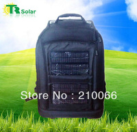 solar bags 6W 8800MAH Solar backpack with solar panel sport bag suit  phone,laptop,computer charger,outdoor camping,hiking