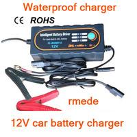 2014 Original 12V Car Battery Charger 12V Motorcycle Charger For SLA,AGM,GEL,VRLA Battery Type With 12V Waterproof ROHS IP65