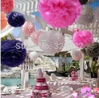 high quality 5'' Paper Pom Poms Flower Balls Wedding Party Shower Favor Decoration 20pcs 26colors for choice