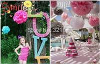 Cute! 50pcs 5''paper tissue pom poms Tissue paper pompoms Flower Balls For Wedding Party Decorations multicolor