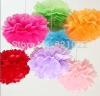 "HOT  12"" Tissue Paper Pompom,Wedding Pom Poms,Tissue Pompoms,Nursery Decor, Party Decoration 50pcs 26colors for choice"
