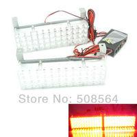 New 48 LED X 2 Car Strobe Light LED Flash Warning Light 12V