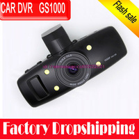 New 100% original Full HD 1080P 30FPS  1.5&quot; LCD Car DVR Recorder with GPS logger G-sensor H.264 4 IR light GS1000 Ambarella CPU