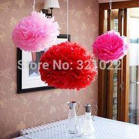 "Hotsale MINI 8"" wedding party decoration pom poms tissue paper ball 50pcs/lot you pick colors"