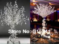 Free shiping (5pcs/lot) wedding centerpiece/crystal beaded wedding tree