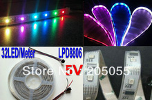 16.4feet 5M 5050 SMD Waterproof LPD8806 IC Flexible RGB LED Strip 32 LEDs/m IP67 DC 5V(China (Mainland))