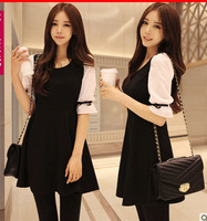 2013 Women new one-piece dress spring and summer chiffon skirt  basic skirt chiffon sleeve princess  dress