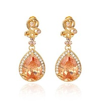 CLEARANCE SALE ONLY LAST ONE PAIR  drop earrings  crystal earrinngs with AAAA  cubic zirconia BA-279 Beauty Paradise@ Rihood