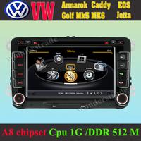 Car DVD Player GPS Navigation volkswagen Armarok Caddy EOS Golf Mk5 mk6 Jetta + 3G wifi + Cpu 1GB DDR 512M + A8 chipset + DVR