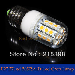 2pcs 2013 New Arrival Warm/Cool White 360 Degree 5050 SMD E27 5W 27 LED 10W 48W Energy Saving 200V-240V Free Shipping(China (Mainland))