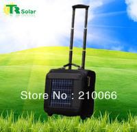 Free Shipping 6W Super Battery 9600MAH Solar Bag Panel Solar Travel Suitcase&Travel Bag Equip Solar Panels Charger Phone,Laptop