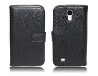 Latest Leather Case Cover for Samsung S4 i9500 with Card Holder , China Post Air mail free shipping
