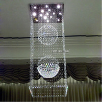 Modern stylish minimalist restaurant, Crystal chandelier living room lights + Free Shipping