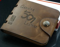 Genuine  leather wallet men's wallet card holder   wallet wholesale Free shipping