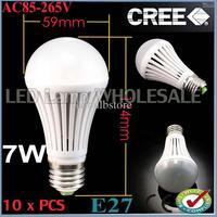 Wholesale -10pcs/lot The new price!!!7W SMD 5050 AC85-265V E27 E26 High Power Ball Steep Light FREE SHIPPING