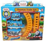 Free shipping Children Toys Small gift box thomas rail car electric thomas track car puzzle track car electric train