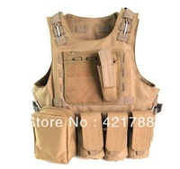 HOT 5 color Airsoft Molle Canteen Hydration Combat RRV Vest Free shipping