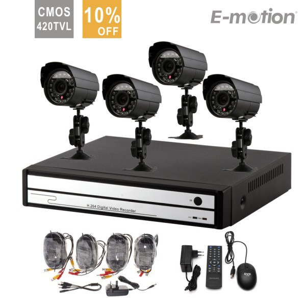 4ch CCTV System 420TVL Waterproof IR Cameras Network DVR Recorder 4ch CCTV Systems Security Camera Video System DVR Kit(China (Mainland))