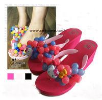 Platform high heels grape slippers 2013 platform sandals beach sandals bubble flip flops sandals flip