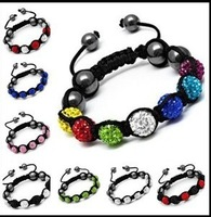 free shipping  Fine jewelry hug Paris shambhala bracelet Shamballa Bracelets 7 drill the ball 10 mm fashion bracelet