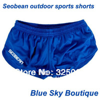 Men's gym shorts loose running Shorts for man blue breathable sports short pants S/M/L/XL size men's athletic shorts