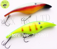 2pcs/lot  MUSKY PIKE MUSKIE PLASTIC MAGIC MAKER JERK GLIDE BAIT GLIDER FISHING LURE SHAD 180mm 2.2oz 3D Eyes