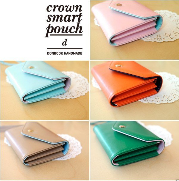 HOT ! New Arrival Crown smart pouch.d leather wallet case for samsung Galaxy S2 i9100 smart pouch handbags for iphone 4s(China (Mainland))