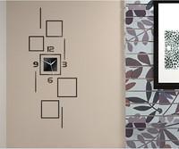 free shipping hot sale unique fashion wall mirror clocks 3d diy clocks watch for home decoration watch Z049