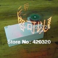 Electronic 2014 new Cross led dot matrix display rotating electronic kit circuit board DIY Creative Design display diy
