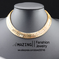 2013 fashion gold plated snake chain necklace for women free shipment(China (Mainland))