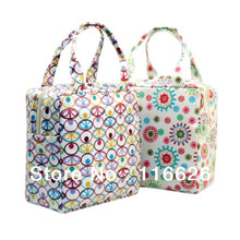 Japanese style Vintage Canvas Membrane Thermal Lunch Tote for Girls Waterproof Taking Food Coler bag(China (Mainland))