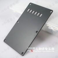 Black plastics electric guitar rear cover board/rear panel/back panel board/small plaid slot
