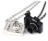 2014 fashion metal alloy rhinestone small camera necklace