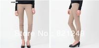 New arrival 2013 women's skinny pants high-elastic butt-lifting slimming high waist chromophous quinquagenarian pants beige
