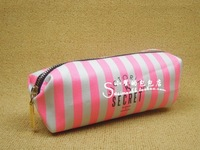 Delicate 2013 Victoria phosphor stripes pencil case cosmetic bag handbag