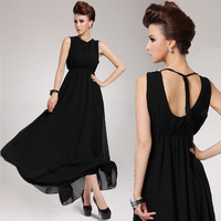 Summer 2014 lacing sexy beach dress chiffon full racerback dress expansion bottom chiffon one-piece dress female