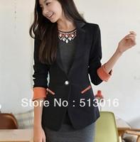 2013 spring new Korean temperament women OL Blazer lapel jacket Slim was thin long-sleeved