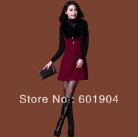 Victoria 2013 spring  summer new women  long sleeve skirt temperament dress 615