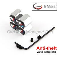 Car Chrome Anti-Theft Locking Tire Tyre Wheel Stem Air Valve Caps MPower Emblem For M 5 3 7 1 X1 X3 X5 X6 GT wholesale 50sets
