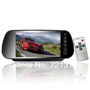 7 Inch  TFT LCD Widescreen Car Rearview Display Monitor Mirror with Touch Button with Remote