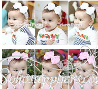 Baby Girl Pearl Flower Headband Infant Lace Hairband Toddler Baby Children Headwear 10pcs Free Shipping TS-0111