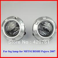 Free shipping Mitsubishi pajero 2007 fog lamp with button wires free shipping Mitsubishi Pajero Fog Light