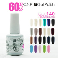 Free Shipping 68PCS CNF New Nail Art Fashion Glitter Soak-off UV Gel Polish Nail Enamel 60 Colors(60 Colors +4 Base +4Top)