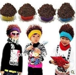 Free Shipping Short Curly Black Headband Wig